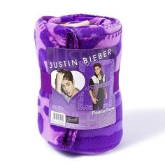 Beliebers: warm up with a cozy Justin Bieber Fleece Blanket