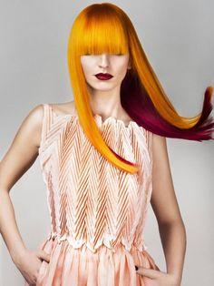 Yellow orange hair