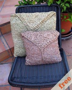 Free Knitting Pattern - Pillows, Cushions & Covers: Raffia Pillow Covers