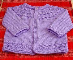 casaquinho lilás   Mademoiselle et le tricot   com receita