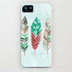 Feather iphone case. Cute!