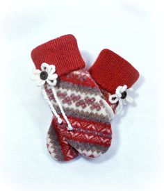 100 WOOL WOMEN'S Recycled Sweater Mittens  by DesignItAgainCrafts, $28.00