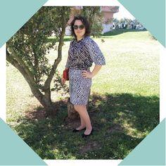 A consultora e a costura   Conjunto de saia e blusa