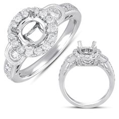 Diamond halo ring  www.diamondsbydesigninc.com