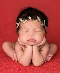 Look at this The Tiny Blessings Boutique Gold Leaf Headband on #zulily today!
