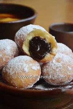 Donut Recipes, My Recipes, Cake Recipes, Snack Recipes, Dessert Recipes, Cooking Recipes, Favorite Recipes, Indonesian Desserts, Asian Desserts