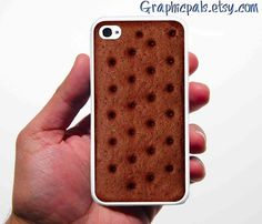 So clever!  Product info: iPhone 4 & 4s Case, Ice Cream Sandwich  iPhone Silicone Rubber.. $15.00, via Etsy.