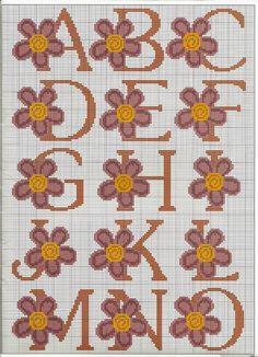Artesanatos by Zenia: Alfabeto com flores