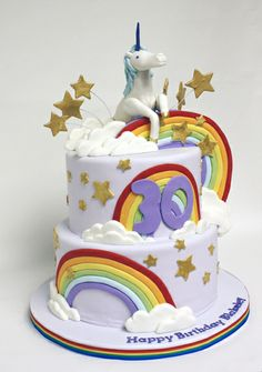 unicorn rainbow cake.©Coco Paloma Desserts
