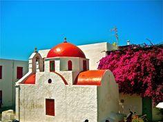 Mykonos,Greece Mykonos Greece, Beautiful Islands, Taj Mahal, Places To Visit, Spaces, Building, Buildings, Construction