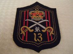 Nwot Rugby Ralph Lauren RARE Embroidered Sew on Patch x'd sabers and royal crown