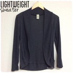 "lightweight sweater PRELOVED in good condition, normal wear and tear. charcoal grey in color and has slight pilling evenly throughout the entire sweater.  details ∙ small ∙ 26.5"" back / 21.5"" front length  due to lighting- color of actual item may vary slightly from photos.  please don't hesitate to ask questions. happy POSHing 😊  🚫 i do not trade or take any transactions off poshmark Sweaters"