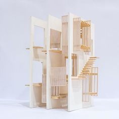 _next_top_architects _ Vertical courtyard house by _z._liu _ysoa _yaleschoolofarchitecture _ _next_top_architects _nextarch Layered Architecture, Concept Models Architecture, Architecture Model Making, Architecture Portfolio, Sustainable Architecture, Interior Architecture, Architecture Courtyard, Beautiful Architecture, Arch Model