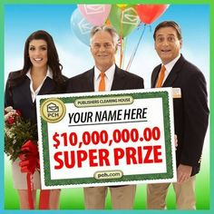 Image result for PCH 10 Million Sweepstakes EntryI claim this Win to be mine johnathan criddleCLAIM OF OWNERSHIP FOR SUPERPRIZE NUMBER  I, Mr. criddle OF lubbock  Claim this opportunity to occupy the Top Spot on Winning Number Authentication List and become the winner of a $1,000,000.00 SuperPrize from this Notice.