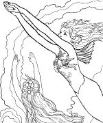 mermaid lessons coloring page a must see talented artist