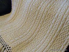 irish weave crochet stitch | Celtic Aran Afghan Pattern