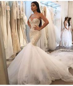 Sleeveless Mermaid Wedding Dresses with Lace Bridal Gowns Custom Size 2 4 6 8 10 Custom Wedding Dress, Wedding Bridesmaid Dresses, Cheap Wedding Dress, Dream Wedding Dresses, Wedding Attire, Bridal Dresses, Wedding Gowns, Lace Wedding, Wedding Ceremonies
