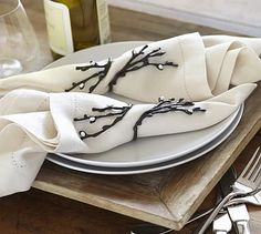 Pearl & Willow Napkin Ring, Set of 4 #potterybarn $30