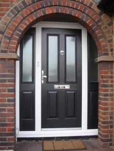 GRP Composite Doors Offer Highest Security to Homes Colonial Front Door, Arched Front Door, Victorian Front Doors, Front Door Porch, Porch Doors, Front Door Entrance, House Front Door, Front Gates, Entry Doors