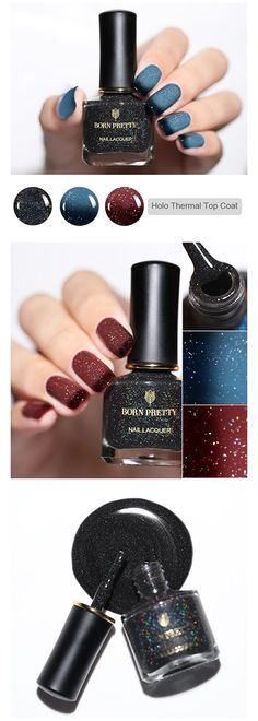 BORN PRETTY Holographic Thermal Top Coat is ready, 3 colors for option, come to choose your favorite~~ Nail Polish Stickers, Best Gel Nail Polish, Green Nail Polish, Green Nails, Nail Art Supplies, Holographic Nails, Rhinestone Nails, Christmas Nail Art, Perfect Nails