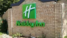 Holiday Inn Primary Signage #outdoor #fabricated #sign #illuminated #green #hotel #manufacture Hotel Signage, Signs, Holiday, Green, Projects, Outdoor, Log Projects, Outdoors, Vacations