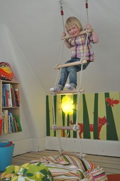 rope ladder - jungle animals - books - perfect recipe for the perfect playroom