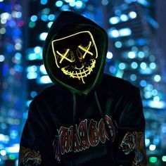 The LED Halloween Purge Mask is a perfect addition to your Halloween costume! This will terrify anyone with its light effect and create the best atmosphere for celebrating Halloween for sure Graffiti Wallpaper, Neon Wallpaper, Hipster Wallpaper, Halloween Led Lights, Purge Mask, Hacker Wallpaper, Light Mask, Glow Mask, Fantasias Halloween