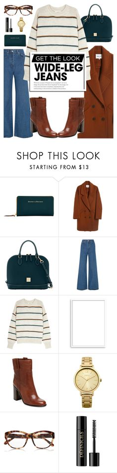 """""""Flare Up: Wide-Leg Jeans"""" by glamorous09 ❤ liked on Polyvore featuring Dooney & Bourke, Solace, Étoile Isabel Marant, Bomedo, Oasis, Linda Farrow, Lancôme, denimtrend and widelegjeans"""