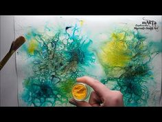 Mixed Media Art Journal - magical background Tutorial - YouTube
