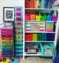 40 Art Room And Craft Room Organization Decor Ideas - artmyideas Classroom Organisation, Teacher Organization, Classroom Design, Classroom Management, Organization Ideas, Future Classroom, Classroom Ideas, Organizing School Supplies, Setting Up A Classroom