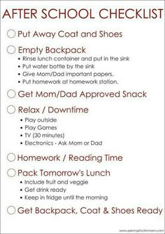 Simple to Use After School Checklist For Kids Back to School time! Help your kids create an after school schedule or after school routine with this free printable. The post Simple to Use After School Checklist For Kids appeared first on School Ideas. After School Checklist, After School Routine, School Routines, Morning Routines, Kids Checklist, Kids Schedule Chart, School Schedule Printable, Homework Checklist, Morning Routine Chart