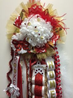 Caney Creek High School knee-length homecoming mums 2014