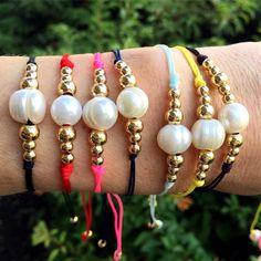 Set By Vila Veloni Multicolor Classic Pearls Bracelets