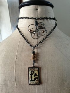 A Family's Love double wrap necklace by Kris Lanae.  www.cherishdesigns.wordpress.com
