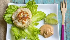 Healthy and delicious recipe for Skinny Tuna Cakes using Old Bay Seasoning and topped with Chipotle Mayo.
