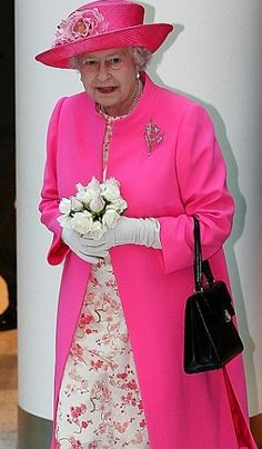 The Queen in pink