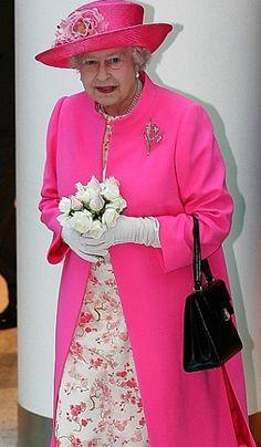 La Reina en rosa.