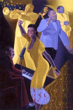 """Jazz"" #art #design #painting #music #saintlouis #piano #african #american #history #blues #saxophone #trumpet #jazz"