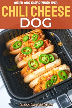 A chili cheese dog makes for a good lunch or a go-to snack in between meals. It also is a quick and easy dinner idea if most of your weeknights are busy. Here's how to prep it in an oven, air fryer, and campfire as well! Dog Recipes, Quick Recipes, Vegetarian Recipes, Cooking Recipes, Snacks Recipes, Chili Cheese Dogs, Chili Dogs, Ground Beef Chili, Air Fryer Cooking Times