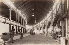 Interior of New Markets on Flinders St,Melbourne in Victoria (year unknown). Places In Melbourne, Melbourne Suburbs, Melbourne Cbd, Melbourne Victoria, Victoria Australia, Melbourne Australia, Australia Travel, Brisbane, New City