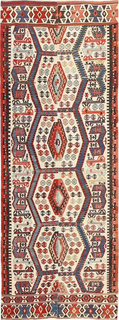 View this absolutely breathtaking tribal design, antique 19th century Turkish Kilim rug #49609 from the Nazmiyal Antique Carpet Gallery.