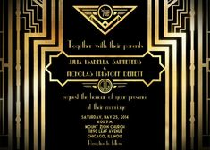 great gatsby invitation in 2018 products pinterest invitations
