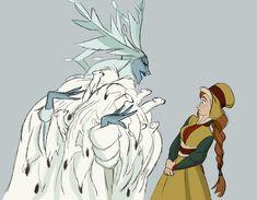 Snow Queen and Anna - Frozen Concept art