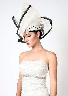 """Z MALAN """"THE AWAKENING"""" Couture Millinery Headdress.  Handcrafted and Hand beaded for wedding, bridal, and special occasions   www.zmalan.com"""