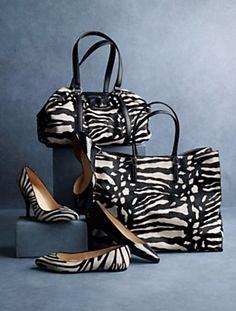 cute zebra shoes & bags