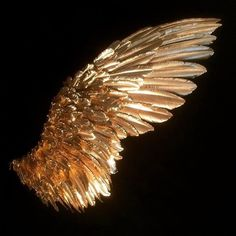 The angels in my dreams have giant gold/bronze wings. Angel Aesthetic, Music Aesthetic, Aesthetic Drawing, Or Noir, Art Inspo, Feather, Cosplay, Pretty, Artwork