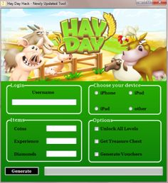 Cheat Hay Day Hack generator tool android ios