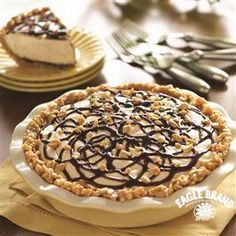 Double Peanut Butter Fudge Pie from Eagle Brand®