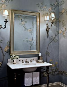 30 Well-Styled Powder Rooms. Love this....x