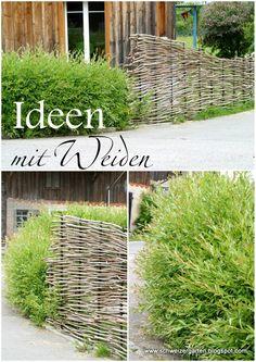 Ein Schweizer Garten: Weiden - von Pavillons und Flechtereien...